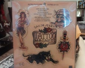 Sailor Jerry Handpainted Wood Tattoo Magnets