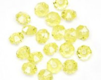 6mm Yellow Rondelle Beads (960 Beads)
