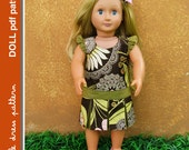 NEW Morgan Doll Dress - PDF Pattern - Doll Size 18 inch