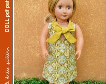 Sara Doll Dress - PDF Pattern - Doll Size 18 inch, PDF Downloadable, Easy Pattern