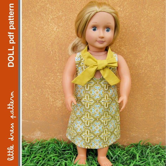 Sara Doll Dress - PDF Pattern - Doll Size 18 inch
