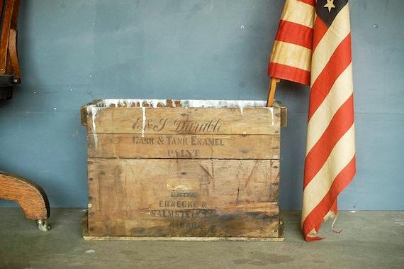 Vintage Paint Crate/Box.