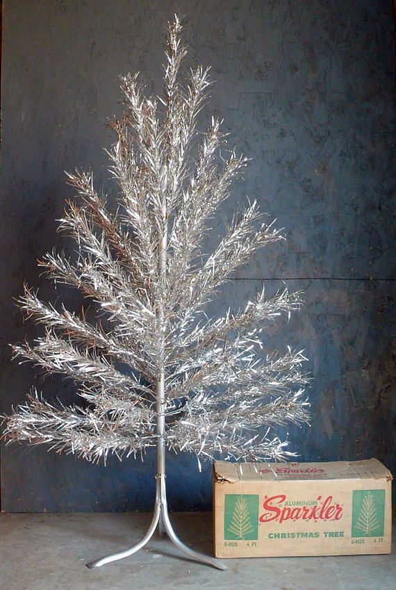 Vintage ft aluminum christmas tree