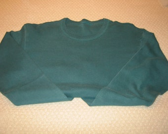 vintage dark green  'Mill Valley Cotton' long sleeve tee shirt - size L