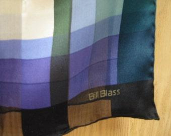 vintage rectangular 'Bill Blass' silk scarf