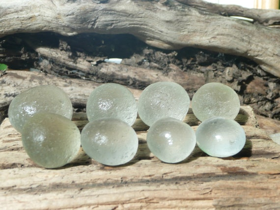 A selection of Jazomir sea glass, sparkly  bubbles from North East England