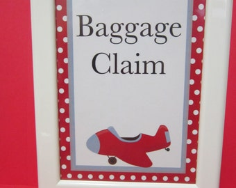 Airplane Party Baggage Claim sign