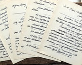 Swiss german handwritten quotes vintage  paper ephemera