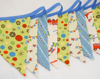 ON SALES *** Boys Bunting - SCOOT - The perfect decoration for Birthday Parties, Boys Rooms or Playrooms