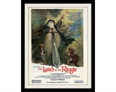 LORD Of The RINGS 1978 Movie Ad Tolkien, John Hurt, Adventure Film Memorabilia Wall Art Ad Decor