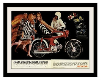 1967 HONDA Sport Motorcycle Ad, Vintage Advertisement Print