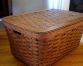 Reserved for Shan Picnic Basket Hamper Vintage