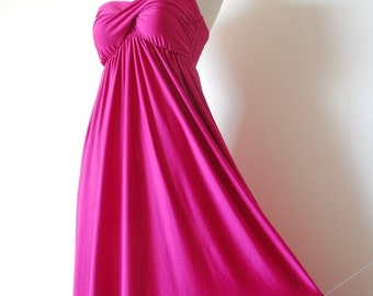 Bridesmaid Dresses, Lotus Pink Bridesmaid Prom Dress, Bridesmaid Dresses, Prom Dress