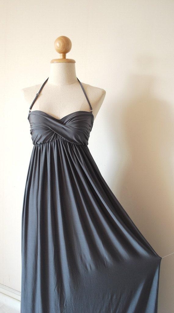 Wedding dress dark grey by pinksandcloset on etsy for Dark grey wedding dresses