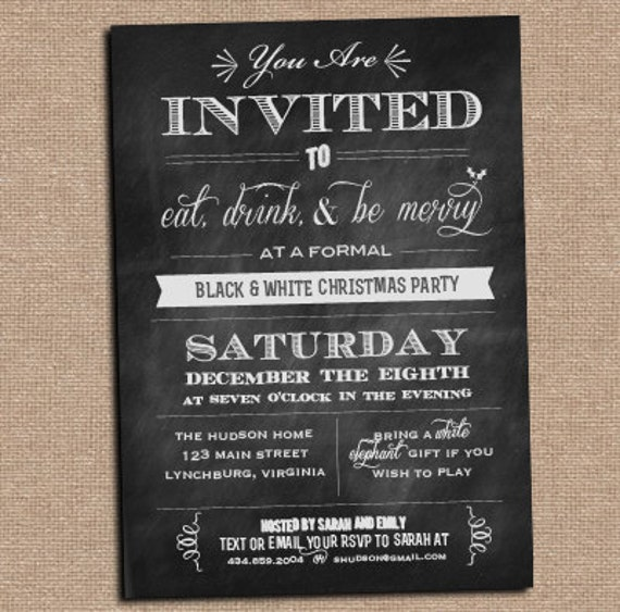 Items similar to Chalkboard Invitation Any Occasion on Etsy – Chalkboard Invitation
