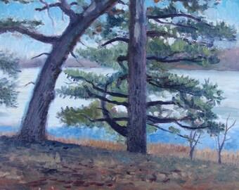 Trees at Pat's Cabin - original painting