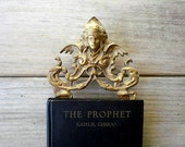 Antique Kahlil Gibran book / The Prophet / 1927 / antique book / illustrated / rare books / literature / hardcover / black / gold