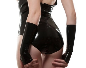 Fingerless 3/4 Elbow-Length Latex Gloves