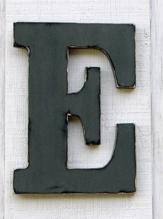 Large Metal Letters For Wall Large Wooden Letters E Pewter Grey Distressed 12 Tall Wood