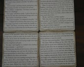 Stone Tile Drink Coaster Harry Potter Upcycled Book Page Drink Coaster