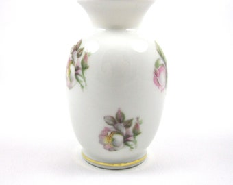German Porcelain Rose Vase, Vintage