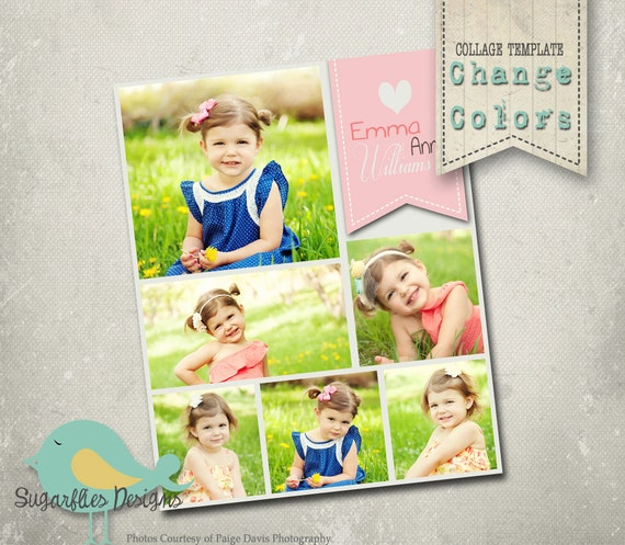 Photography Collage Template Blog Board 16x20 - LOVE