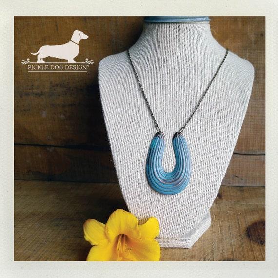 Lucky Horseshoe. Necklace