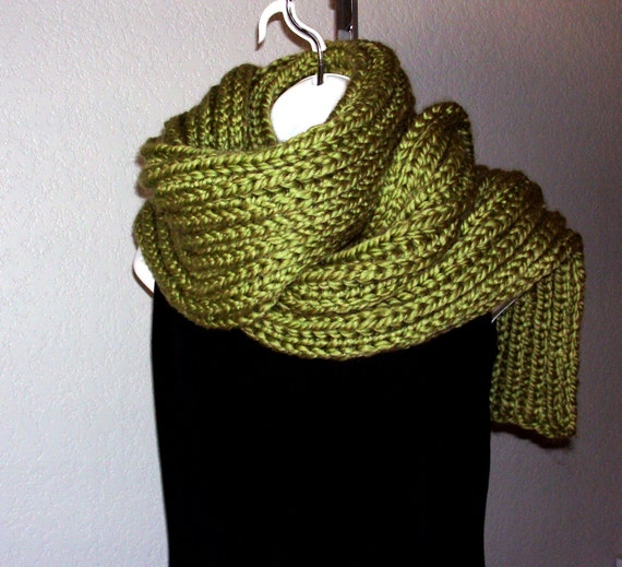 Chunky Scarf Shawl PDF knitting pattern world by HandKnitArtisans