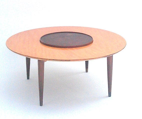 Items Similar To Mid Century Danish Modern Lazy Susan Cocktail Coffee Table On Etsy