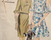 Vintage 1961 Vogue 5297 Sewing Pattern Flared or Straight skirt, easy fitting blouse and petticoat  Size 10 Bust 31 Hip 33