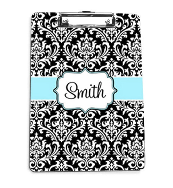 Custom Personalized Clipboard Damask - Any Color