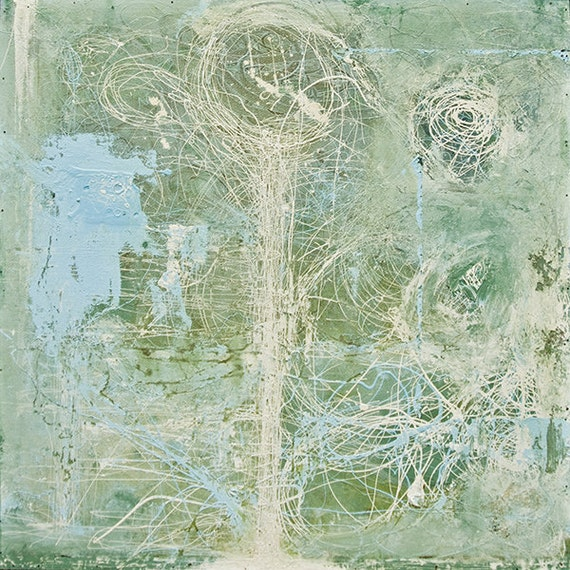 LARGE ABSTRACT PAINTING / Mid Century Abstract Concepts RGCIV5.2012No.21EOC4 - Distilled Reality/Free Shipping