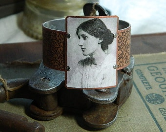 Virginia Woolf bracelet mixed media jewelry literature literary poetry poet