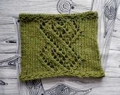 PDF LINKED winter cowl bulky knitting pattern