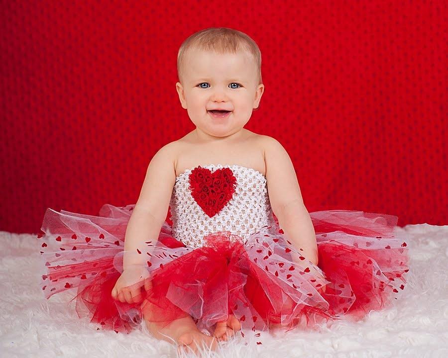 Valentine s day tutu dress red chiffon heart by