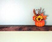 "Reclaimed Barn Wood Floating Wall Shelf 20 3/4"" Long Rustic SOLID OAK"