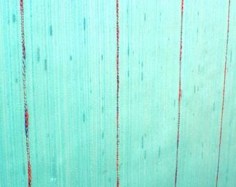 So Different  MINT SEAFOAM SILK Pinstripe-Vintage Retro Wallpaper Sold By Single Roll