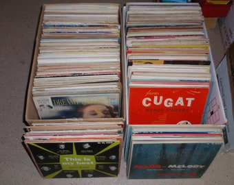 """10"""" Random Used Vinyl Record Albums WITH Jackets For Crafting, Crafting LOT of (10)"""