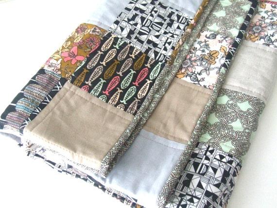 Baby Quilt - Crib Quilt - Modern Quilt - Organic Fabrics