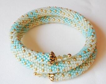 Bead Crochet Bangle: Multi Strand Little Bands