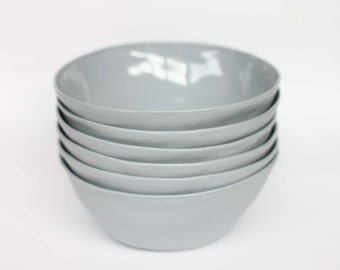 organic breakfast bowl - porcelain (concrete colour)