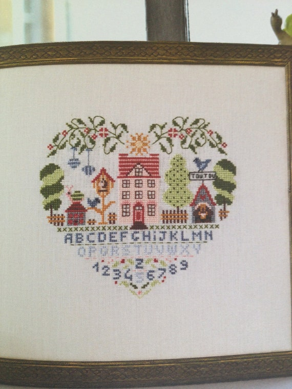 home sweet home cross stitch kit by hexagoncrafts on etsy