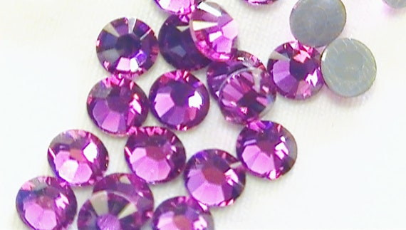 Fuchsia 2028 Swarovski Elements Rhinestones, 16ss Hot Fix 36 pieces