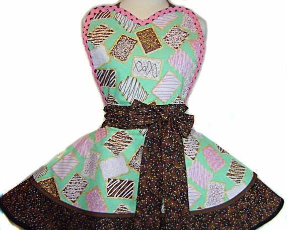 Tasty Pop-Tarts Apron-Pinup/Diner Style Apron --A Tie Me Up Aprons Exclusive