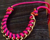 Curb chain paracord necklace