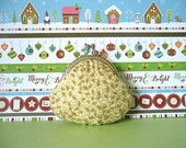 Christmas Gold scroll Small Clutch/ Coin Purse - Holiday Gift