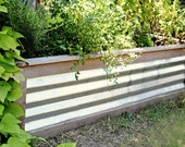 Cedar and Tin Herb or Flower Planter Box