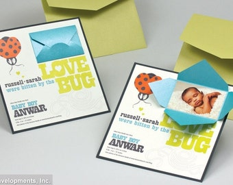 Baby Announcement - LOVE BUG