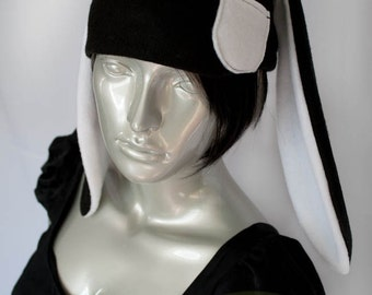 Black Bunny Fleece Hat