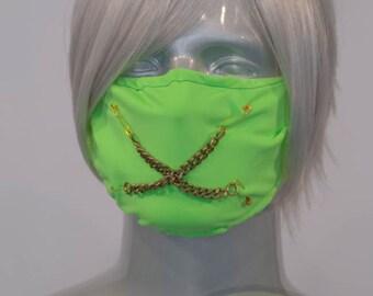 Light Green Lime J-Rock Surgical Mask